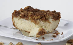 Click to enlarge Apple Nut Coffee Cake 8x8