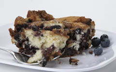 Click to enlarge Blueberry Coffee Cake 8x8