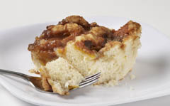 Click to enlarge Peach Coffee Cake 8x8