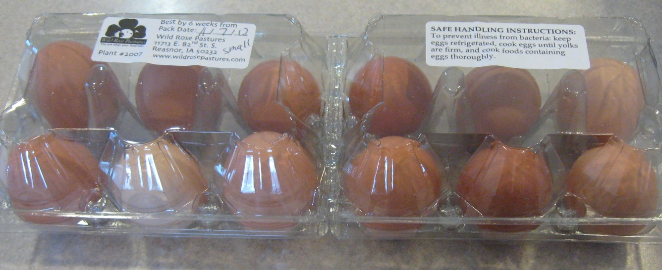 Click to enlarge Dozen Pasture Raised Brown Eggs (Small)