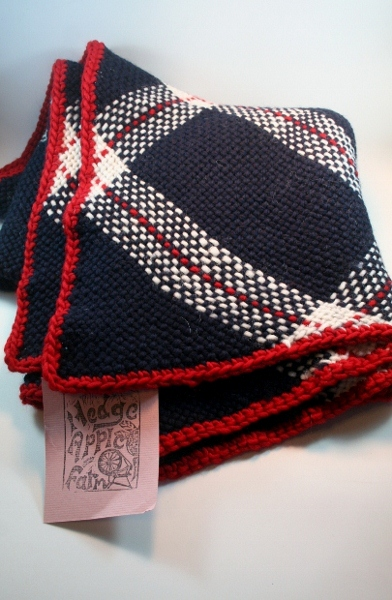 Click to enlarge Hand woven 100% wool blanket