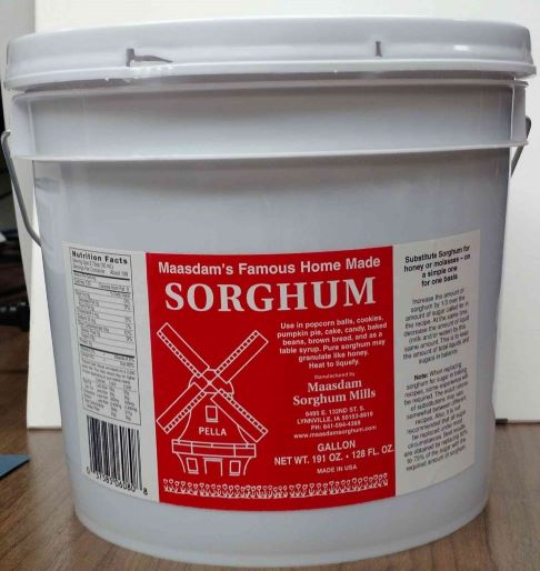 Click to enlarge Gallon Pure Sorghum Syrup