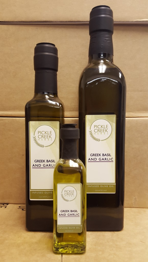Click to enlarge Greek Basil & Garlic Infused Olive Oil