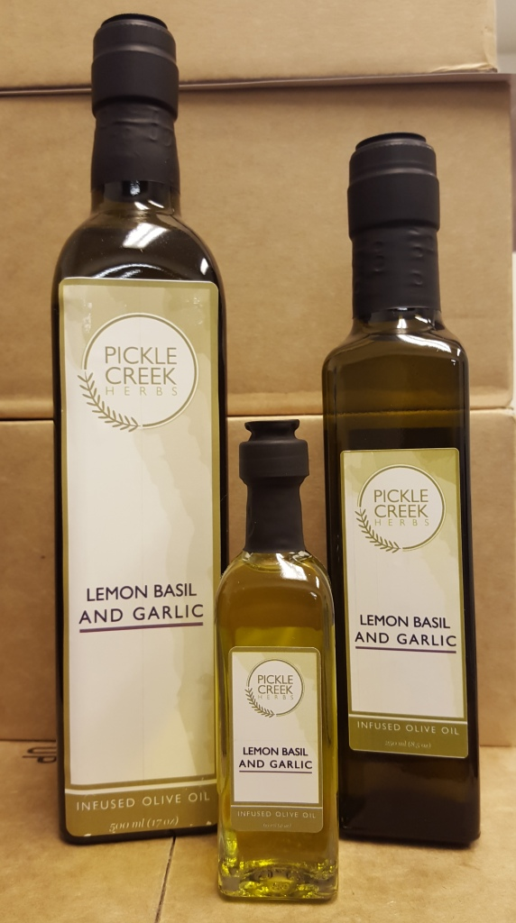 Click to enlarge Lemon Basil & Garlic Infused Olive Oil