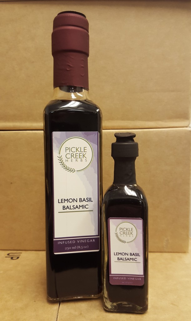 Click to enlarge Lemon Basil Infused Balsamic Vinegar