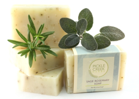 Click to enlarge Sage Rosemary Herbal Soap