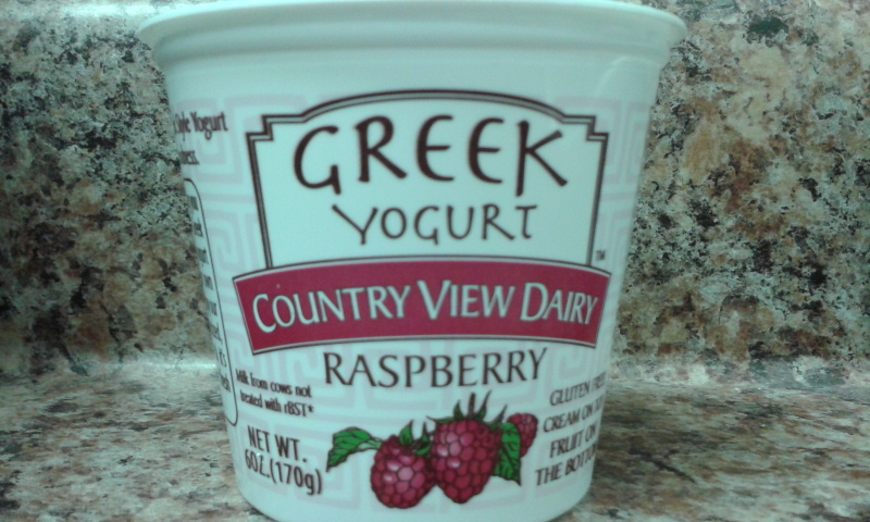 Click to enlarge GREEK: Case (dozen) 6 oz RASPBERRY Fruit-on-the-Bottom