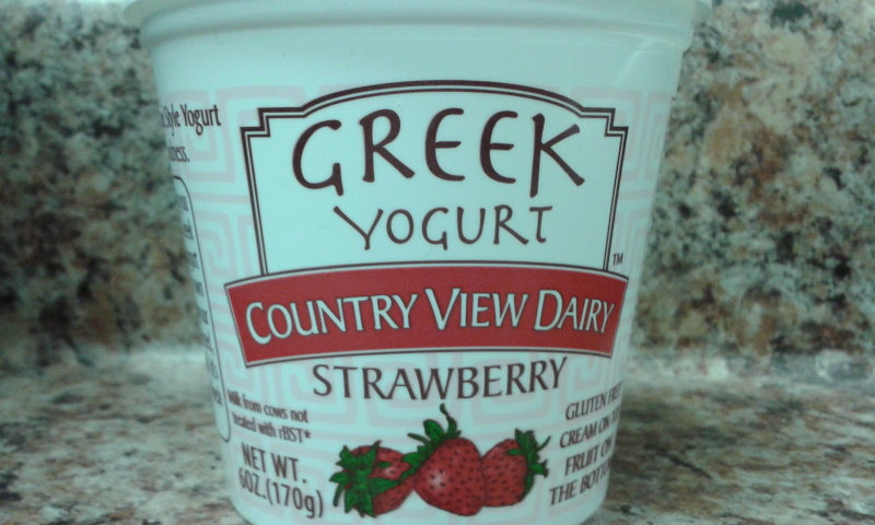 Click to enlarge GREEK Strawberry 6 oz All-Natural Fruit-on-the-bottom Yogurt (1 dozen)