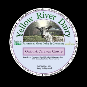 Click to enlarge Creamy Chevre-Onion/Caraway