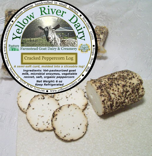 "Click to enlarge ""Cracker-cut"" Cheese Log/Peppercorn"