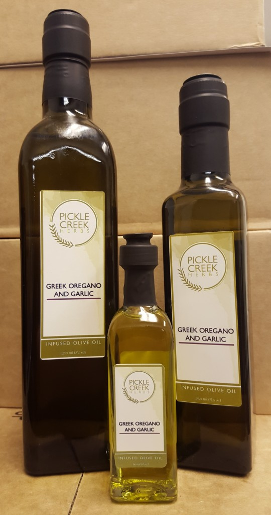 Click to enlarge Greek Oregano & Garlic Infused Olive Oil