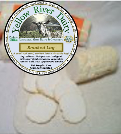 "Click to enlarge ""Cracker-cut"" Cheese Log/Smoked"