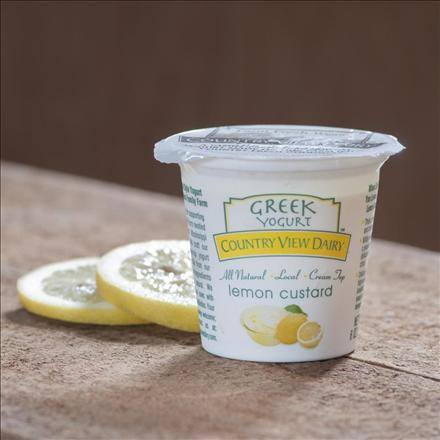 Click to enlarge GREEK Lemon Custard 6 oz All-Natural Yogurt (1 dozen)