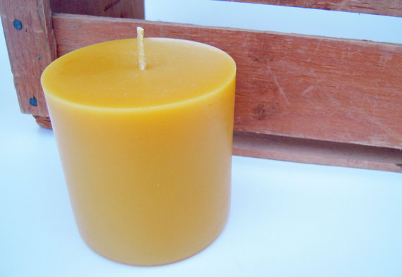 Click to enlarge 100% Pure Beeswax - Large Pillar Candle
