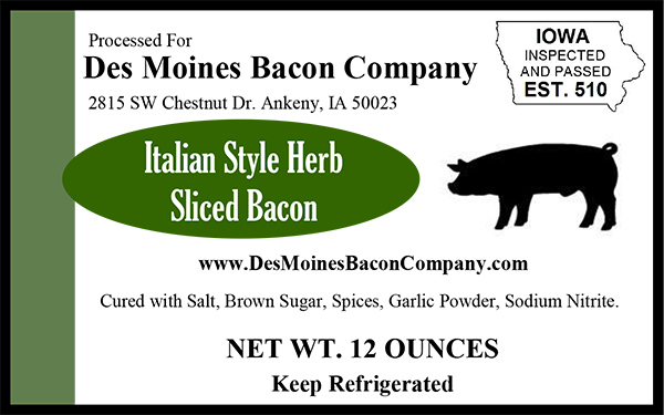 Click to enlarge Italian Herb Bacon