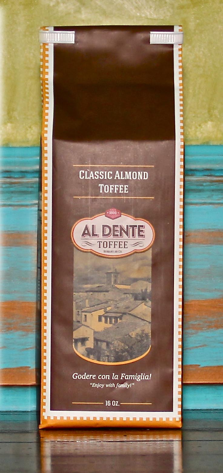 Click to enlarge Al Dente Toffee  Classic Almond Toffee  16oz bag