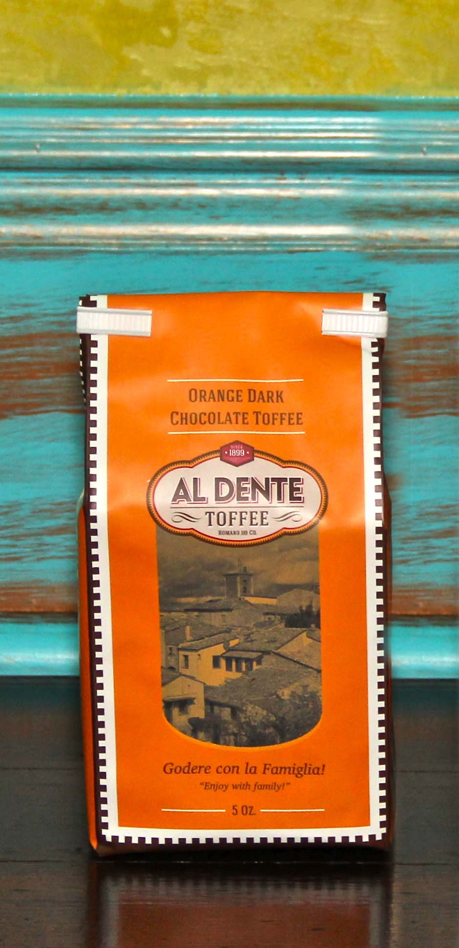 Click to enlarge Orange Dark Chocolate Toffee 5oz