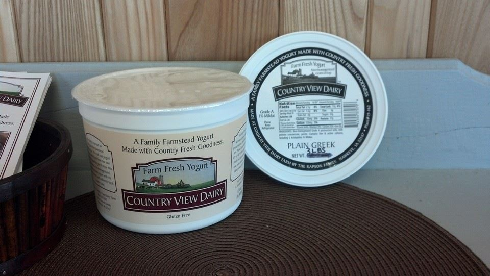 Click to enlarge GREEK Plain 3 lb tub All-Natural Farmstead Yogurt