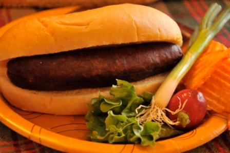 Click to enlarge Fresh Brat with Cheddar