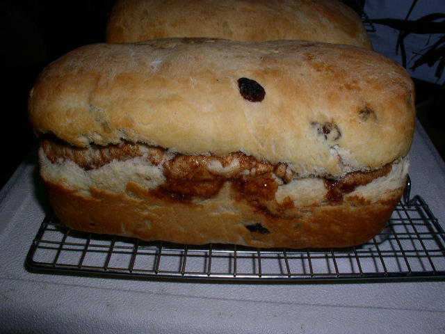 Click to enlarge White Cinnamon Raisin Bread