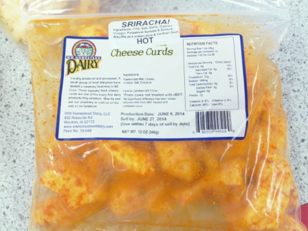 Click to enlarge Cheddar Cheese Curds - Sriracha
