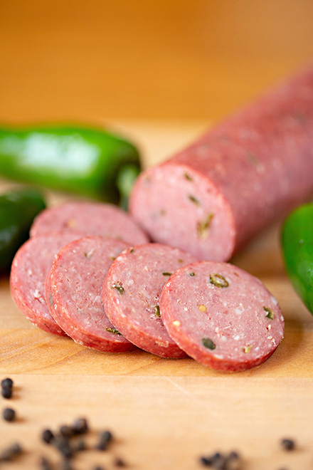 Click to enlarge Summer Sausage (8 oz.) - Jalapeno