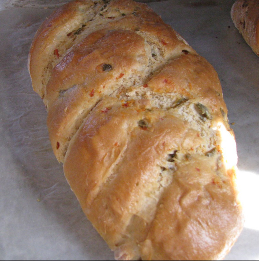 Click to enlarge Green Olive & Pimento Bread