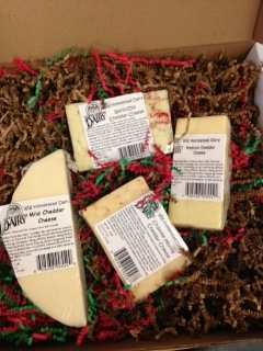 Click to enlarge Cheddar Cheese Sampler Gift Box