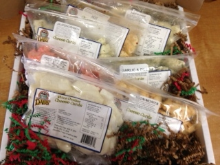 Click to enlarge Cheese Curd Sampler Gift Box