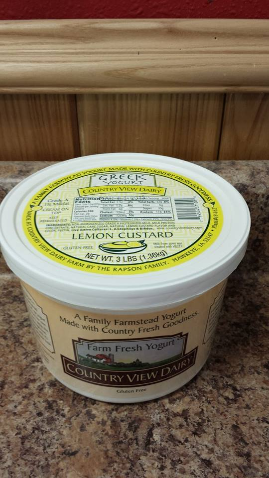 Click to enlarge GREEK: 3 lb Tub LEMON CUSTARD