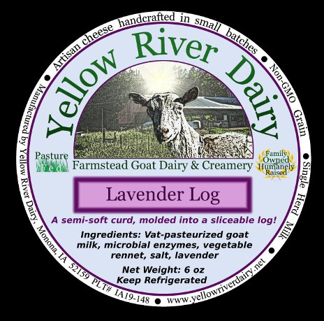 "Click to enlarge ""Cracker-cut"" cheese log/lavender"