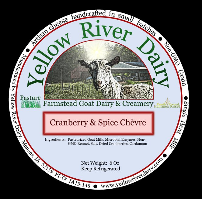 Click to enlarge Creamy Chevre-Cranberry Spice