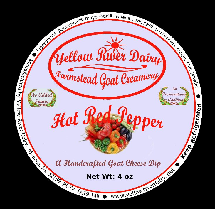 Click to enlarge Goat Cheese Dip/Hot Red Pepper