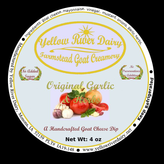 Click to enlarge Goat Cheese Dip/Original Garlic & Herbs