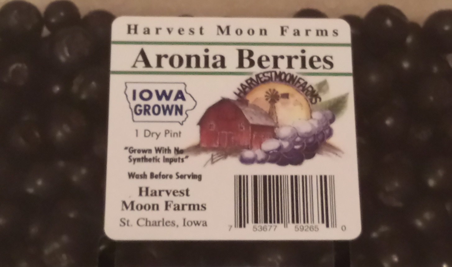 Click to enlarge Fresh Aronia Berries