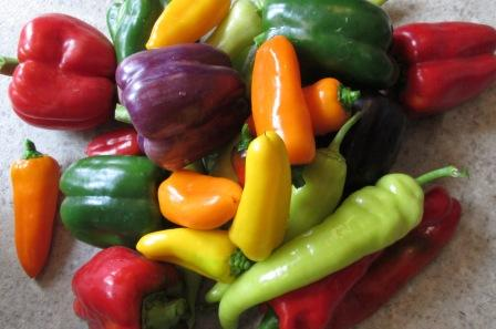 Click to enlarge Sweet Green & Colored Peppers Mixed sizes  All Sweet SALE