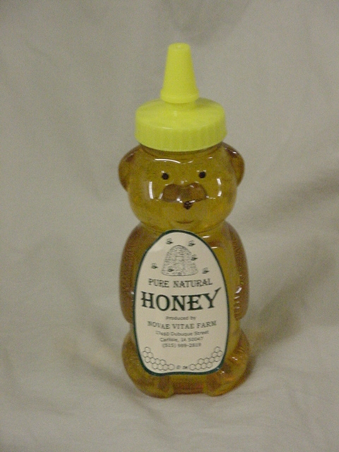 Click to enlarge Pure Raw Honey - 12oz Bear