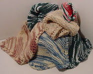 Click to enlarge Hand-knit/crocheted  Washcloth