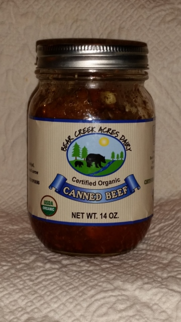 Click to enlarge Certified Organic Canned Beef