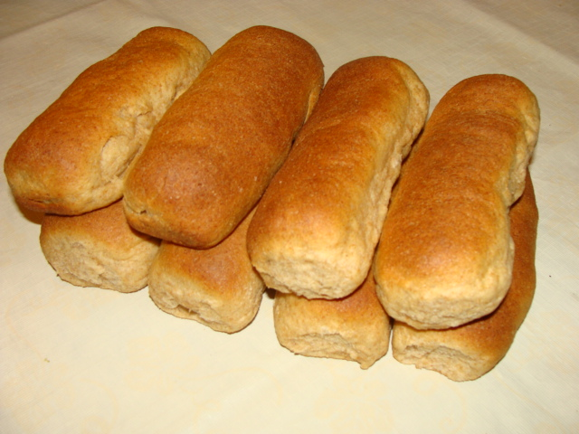 Click to enlarge 100% Whole Wheat Hot Dog Buns