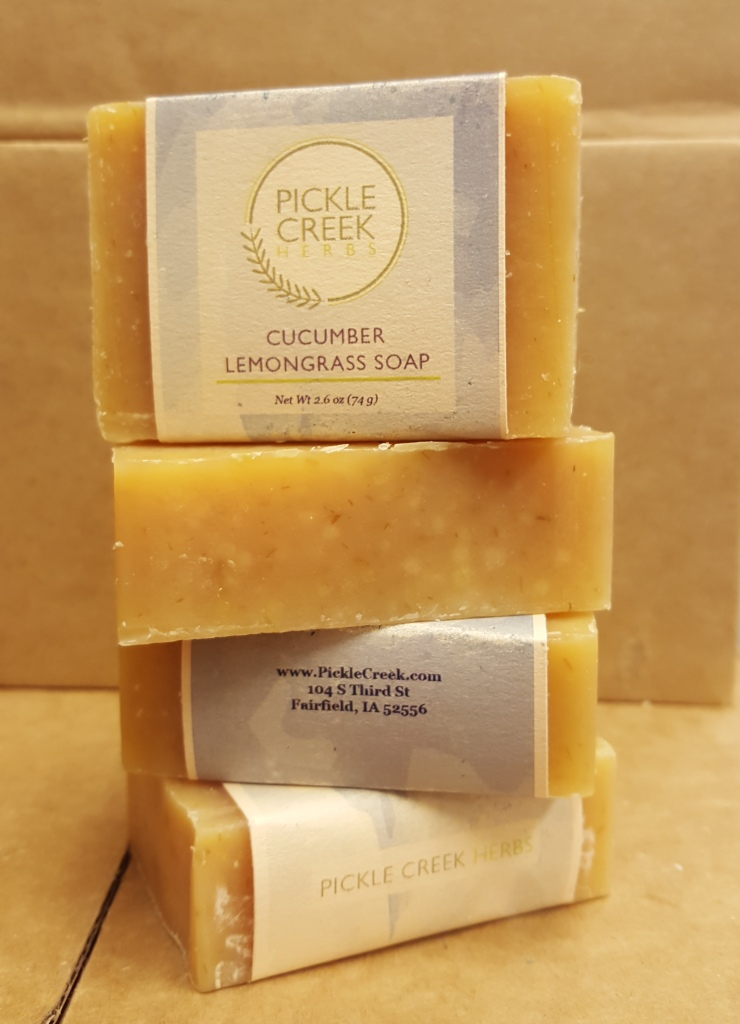 Click to enlarge Cucumber Lemon Herbal Soap