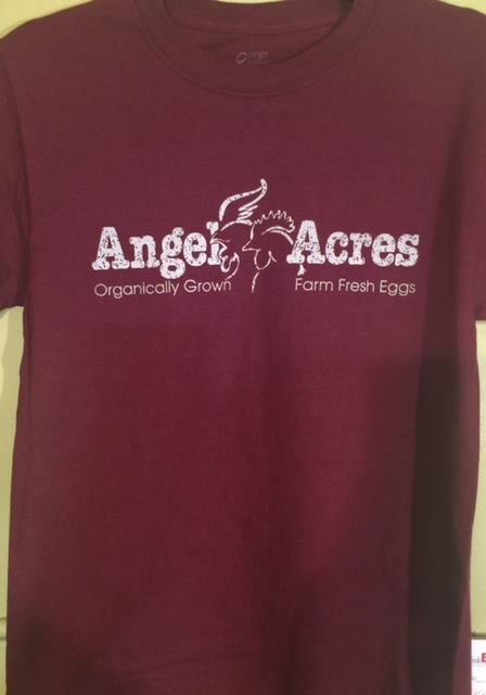 Click to enlarge Angel Acres Burgundy T-shirt-Size Adult Medium