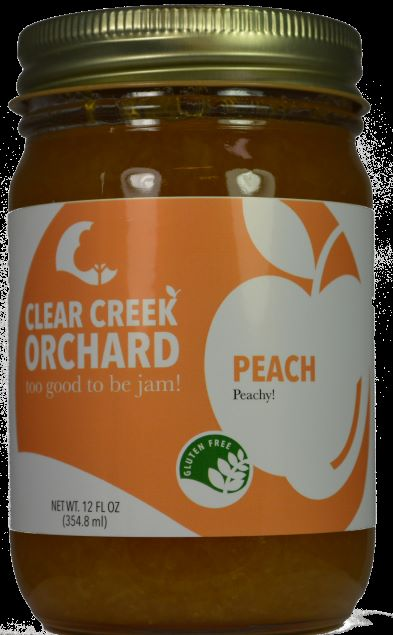 Click to enlarge Peach 12oz Jar ON Sale