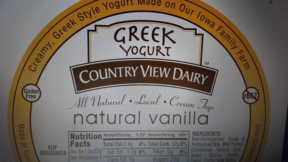 Click to enlarge GREEK: 3 lb Tub VANILLA *NEW*