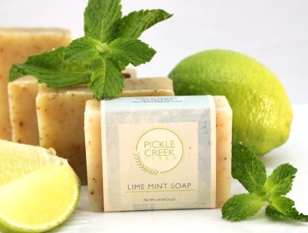 Click to enlarge Lime Mint Herbal Soap