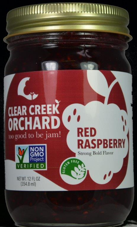 "Click to enlarge Red Raspberry ""Non GMO"" 12oz Jar"