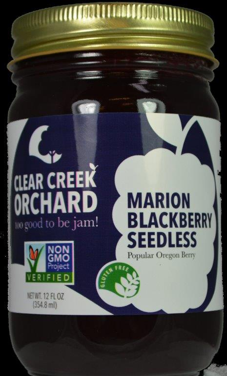 "Click to enlarge Marion Blackberry, Seedless ""NON-GMO"" 12oz Jar"