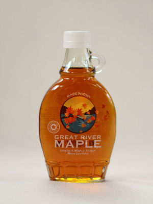 Click to enlarge Pure 100% Maple Syrup 8 oz Glass Jar Grade A