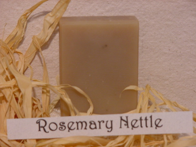 Click to enlarge  Rosemary Nettle Shampoo bar