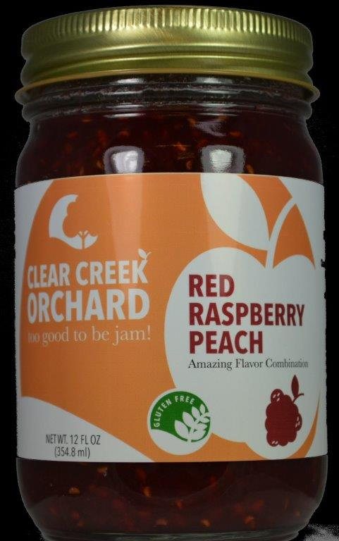 Click to enlarge Red Raspberry - Peach Jam 12oz Jar